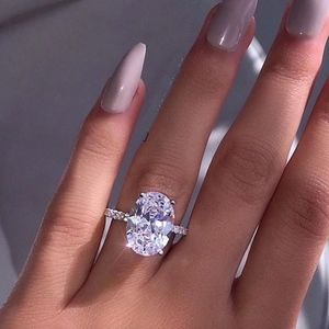 Jewelry - Diamond Crystal 6 Carat Oval CZ Engagement Ring